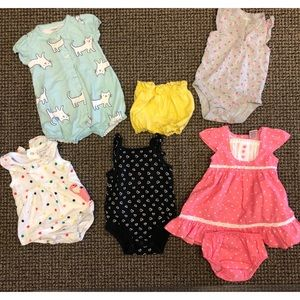 Baby girls clothes bundle 3-6 months 6 items